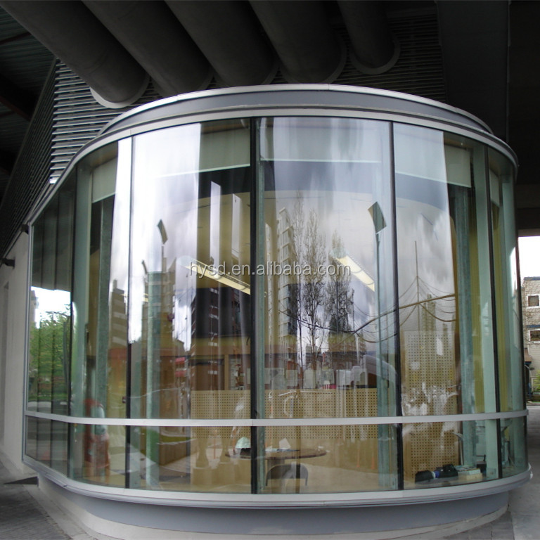 Beijing Haiyangshunda high quality 10mm Architectural bent tempered glass curved glass door