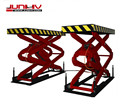 save space type scissor lift for repair workshop