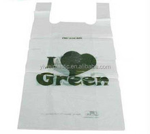 T-Shirt Carry-Out Bag Promotional Biodegradable Trade Show Gravure Printed Plastic Shopping Bag