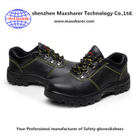 Good quality antistatic piercing shoes real leather steel plate safety shoes men's lightweight safety shoes
