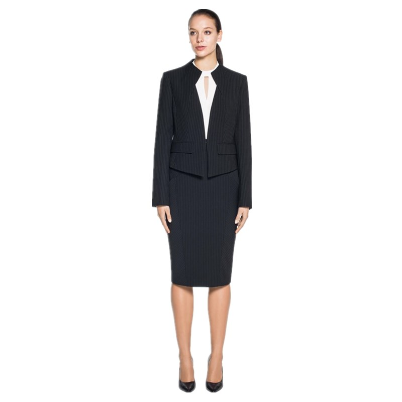 New knee length long sleeve zabra pattern 3 pieces female wear ladies suit design