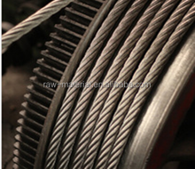 Hot sale 7X19 galvanized steel wire rope