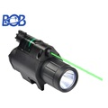 Combo Tactical CREE LED Flashlight with green Laser Sight Scope 20mm Rail