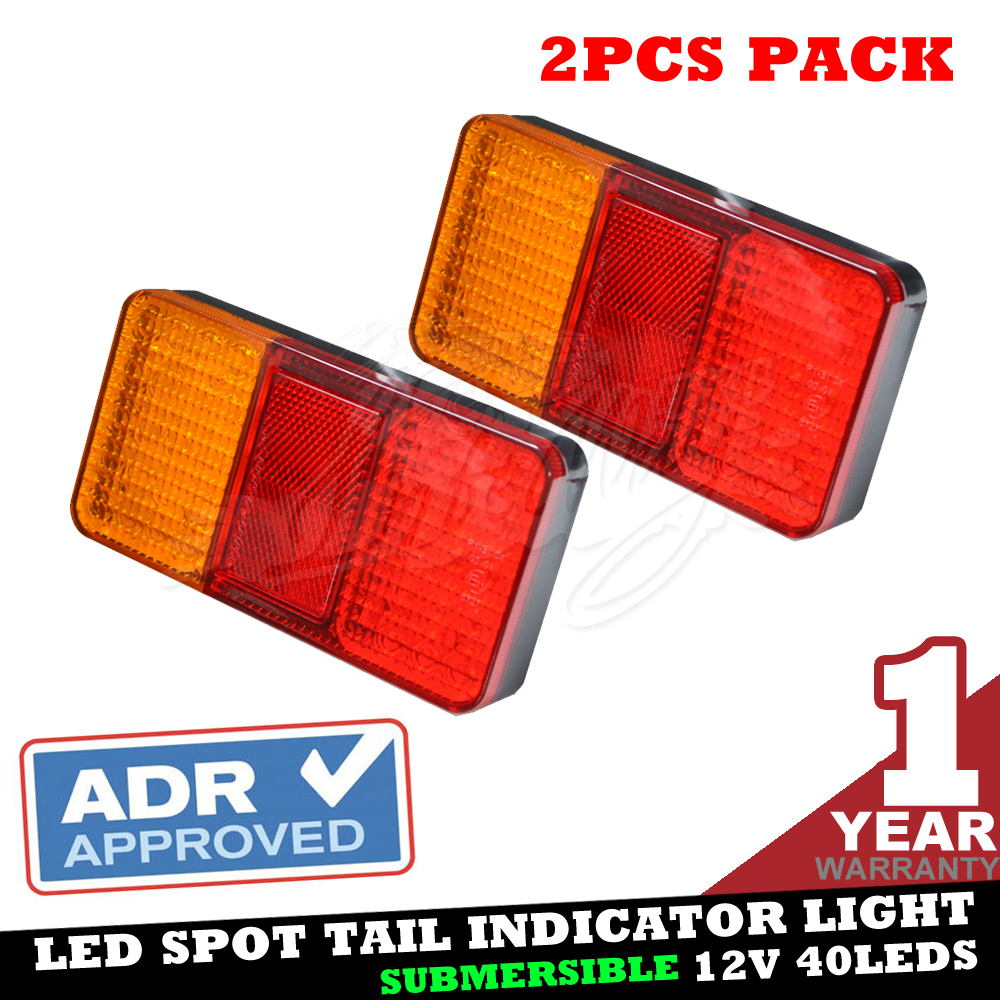 PAIR 12V LED TAIL STOP BRAKE LAMP INDICATOR TRUCK TRAILER SUBMERSIBLE LIGHT 106