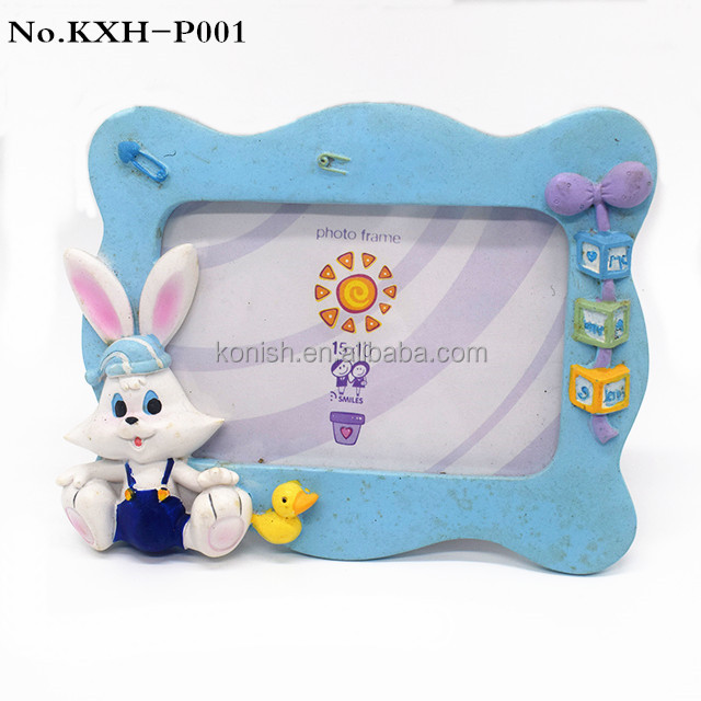 Wholesale Cute Bunny Resin Art Picture Frame Table Decoration Gift