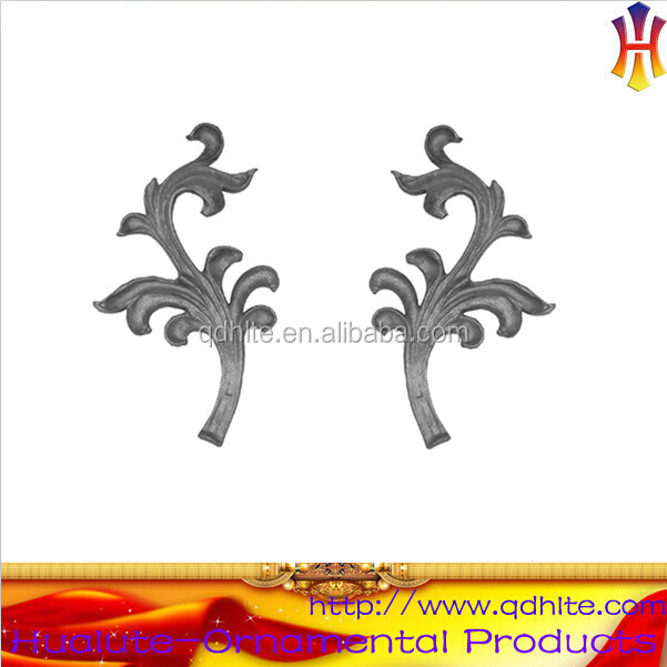 Ornamental wrought iron metal stamping leaves and flowers for rosette