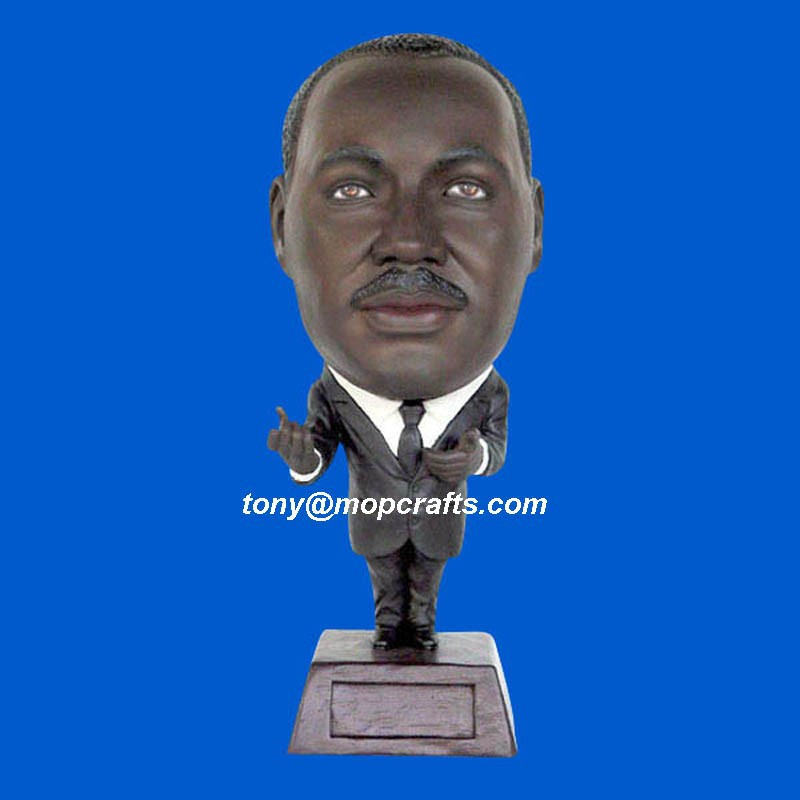 polyresin famous people bust, bust bobble head