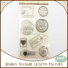 Postage Stamp Transparent Clear Stamp for Stationery