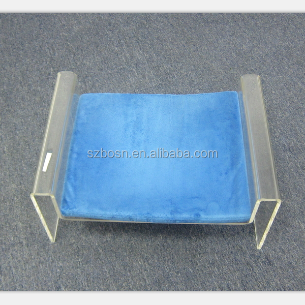 Clear Acrylic Pet/ Cat/ Dog Sleep Bed With Cushion Clear Acrylic Pet Sleep Bed With A Little Cushion