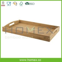 New Design Grain Bamboo Serving Tray/Food Tray with Serving Handle/Homex_FSC/BSCI Factory