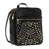 made in chins CC43-116 inspired fashion leather handbags set black backpack crystal