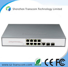 Managed POE Switch with 8 10/100M ports and Gigabit Combo Port/ 8 port POE switch Gigabit POE switch / Switch POE