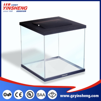 International certifications High Quality ultra-slim LED coffee table aquarium fish tank