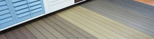 New Design of Capped WPC Solid Decking with Popular Size 138*22.5mm