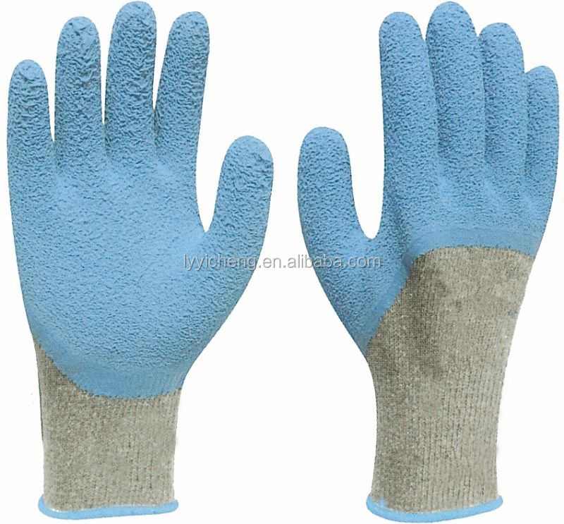 latex coated work glove/latex rubber coated work glove