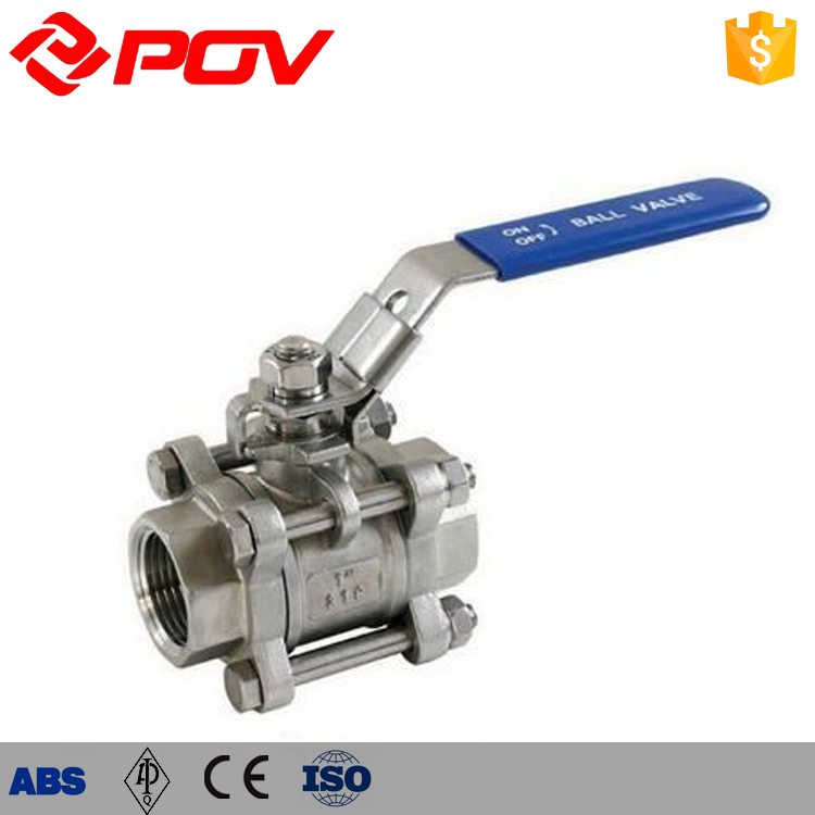 Stainless steel <strong>ball</strong> <strong>valve</strong> thread pn63 manual control <strong>valve</strong>