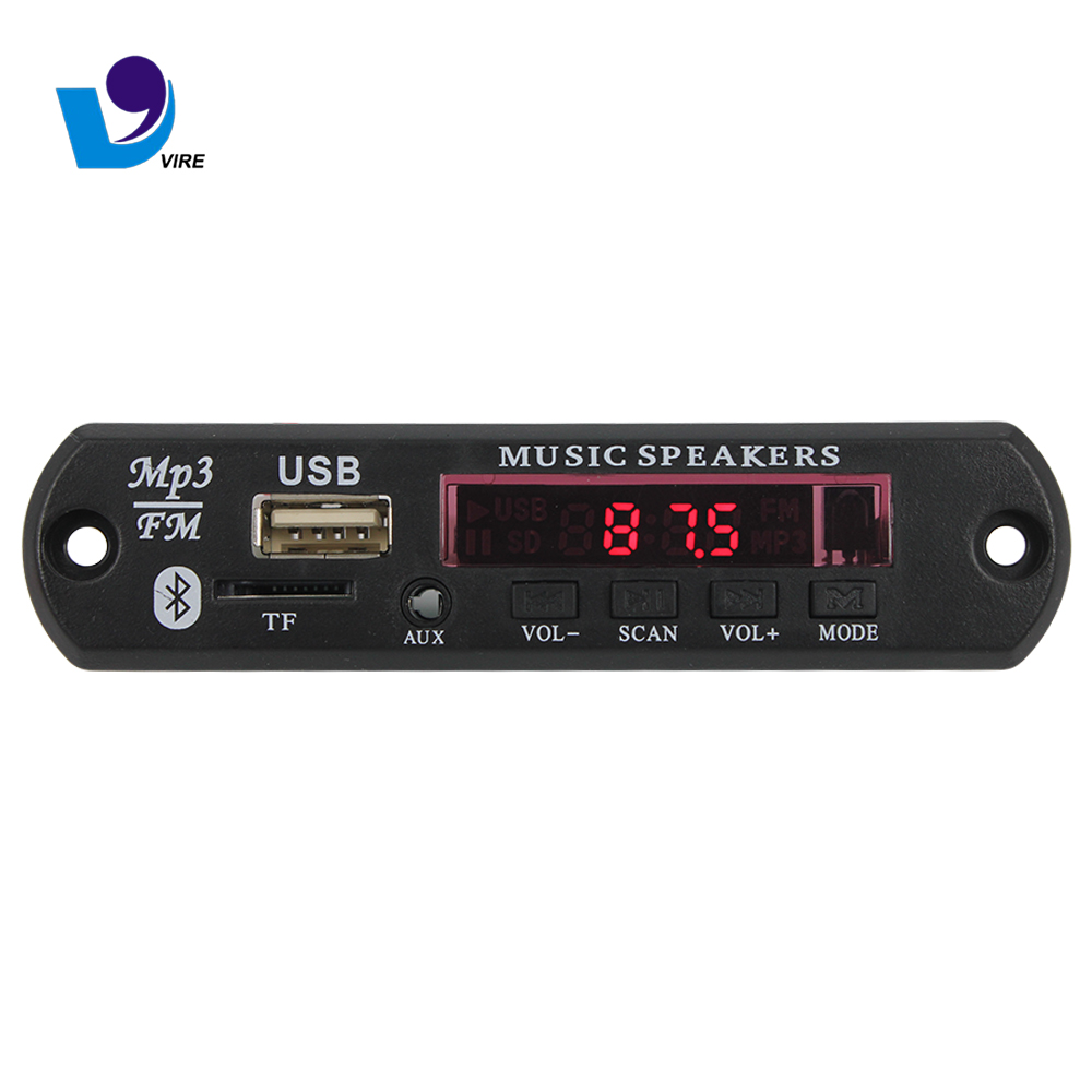 DC 5V 12V Vehicles <strong>MP3</strong> WMA Decoder Board Audio Module USB FM TF Radio For Car