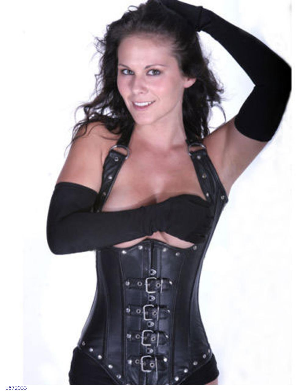 Sexy Women black Waist Training Underbust steel boned corset