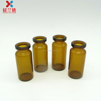 10ml amber antibiotic injection small glass bottle vial