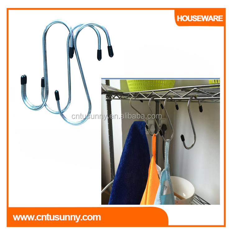 s shaped metal hooks for clothes hanger
