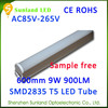 Ecology friendly CE ROHS cool white T5 9w 48pcs SMD2835 ube8 led light tube 8 china