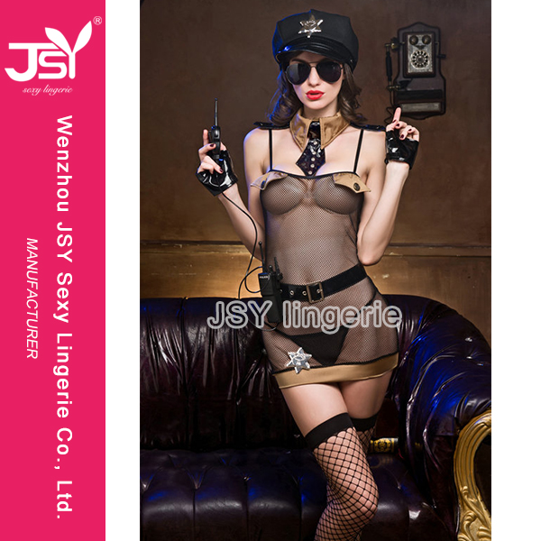 Woman Hot Police Costume Sexy Cosplay Uniform Japanese Girl Police Costume