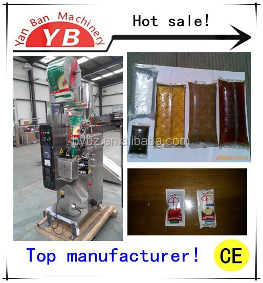 YB-150J Automatic sachet packaging machine , automatic sachet peanut butter /ketchup packaging machine with CE certificate