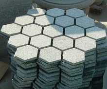 Six Point Granite Paving Stone Hexagon Paver
