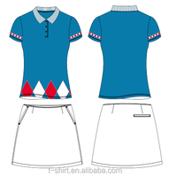 ladie's cut and sew top 10 polo shirts golf shirt and skorts