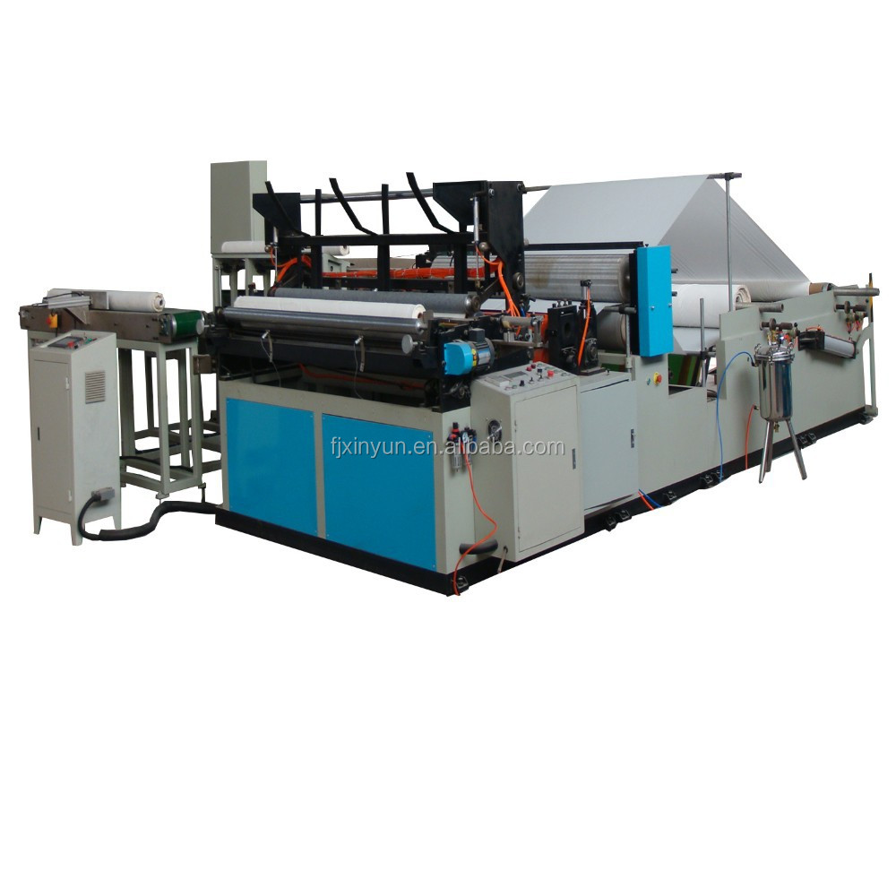 XY-TQ-A-F Full Automatic Rewinding and Cuting Toilet Paper Production Line