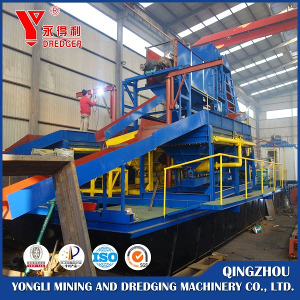 Gold mining equipment chain bucket river sand dredger/chain gold dredger for sale