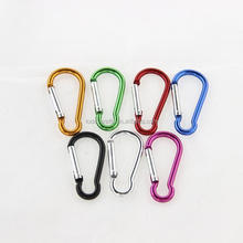 2016 China wholesale cheap colourful key chains carabiner <strong>hook</strong>/aluminum carabiner <strong>hook</strong>