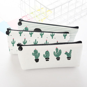 Custom Printed Canvas Pen Pencil Case Stationery Pouch Bag Case Cosmetic Bags