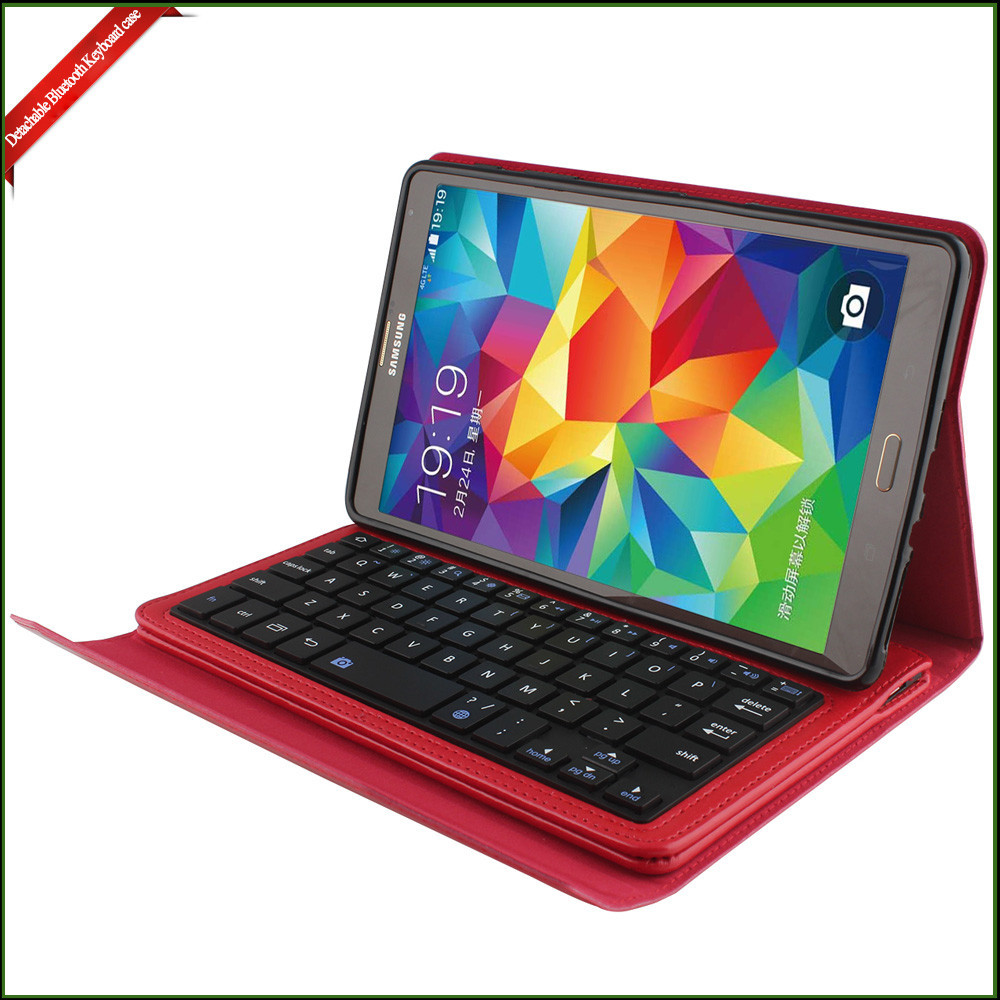Leather Case and Stand Cover Bluetooth Wireless Keyboard Support 8.4 inch Android tablet case
