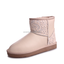 Girls new style cute cheap fur whites factory seconds boots
