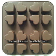 Hot sale pop heart shape silicone cake tray