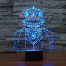 Customized Kids Cartoon Night Light 3D Led Illusion Lamp for Children