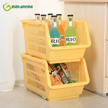 Plastic Can Be Stacked Storage Basket Fruit And Vegetables Holders Rack Store Many Debris Kitchen Tools