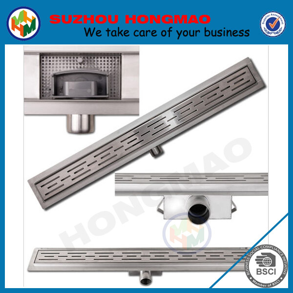 Side outlet prefabricated vertical shower drain, bathroom floor drains