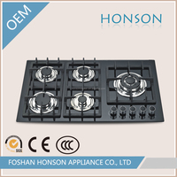 Newest Factory Sale Electric Stove Cooking Tempered Glass 5 Burner Gas Hob