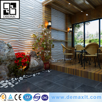 Mordern Sea wave model plant material bamboo 3d wall panel
