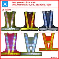 flashing lights reflective high visibility highway safety vest ,highway safety vest with flashing led lights