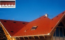 High quality round fiberglass asphalt roofing shingles in China, cheap roofing material asphalt shingles manufacturer