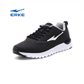 2017 wholesale brand black PU school style lightweight ERKE running sports shoes for man