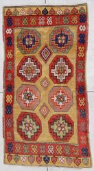 Antique Turkish Rug KONYA #6875