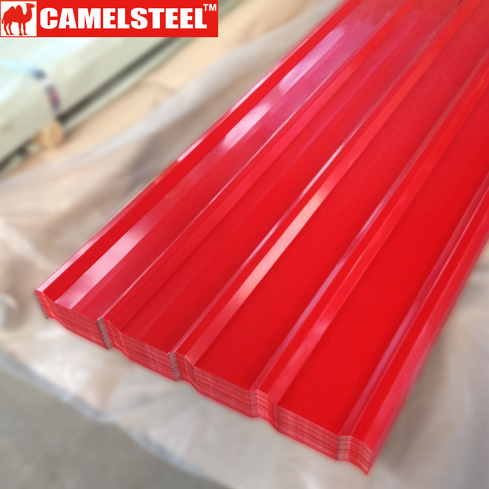 Haiti red roof corrugated steel sheets