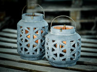 H307 rustic candle lanterns garden accessories 2016