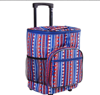 Laptop Backpack Rolling Trolley Bag with Wheels