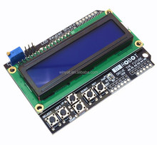 LCD Keypad Shield LCD1602 LCD 1602 Module Display ATMEGA328 ATMEGA2560 raspberry pi UNO blue screen