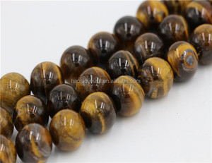 Manufacturer Wholesale 8mm Natural Stone Brown Tiger Eye High Quality Loose Stones